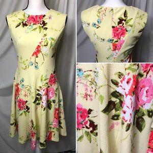 NWOT Studio One New York Floral Sleeveless Dress 6